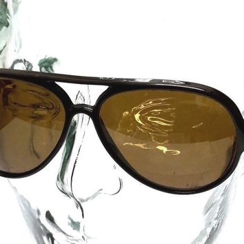 RAY BAN Bausch & Lomb FRANCE Brown G15UV CATS 5000 SKI AVIATOR SUNGLASSES