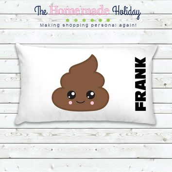 Poop Emoji Personalized Pillowcase