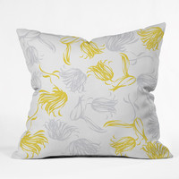 Vy La Bright Breezy Tulips Outdoor Throw Pillow