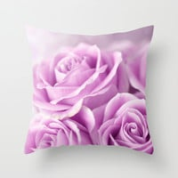Softly, Tenderly...Lavender Throw Pillow by Lisa Argyropoulos