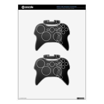 Silver Lights Xbox 360 Controller Decal