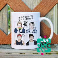 5 SOS Coffee Mug, Ceramic Mug, Unique Coffee Mug Gift Coffee