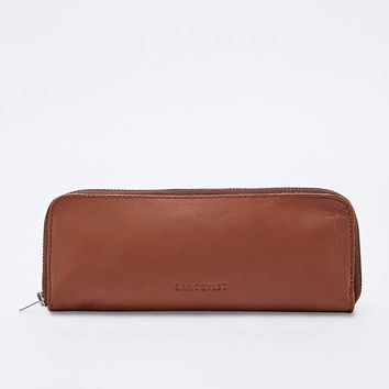 Sandqvist Faber Leather Pencil Case in Tan - Urban Outfitters
