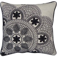 Better Homes and Garden Black and Ivory Lace Decorative Pillow, Almond - Walmart.com