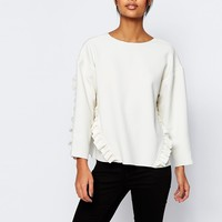 ASOS Oversize Top With Ruffle Detail at asos.com