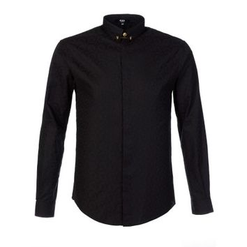 Versus Versace Black Pin Collar Shirt
