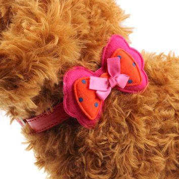 Dog Double Bowknot Adjustable Collar