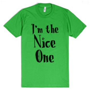 I'm The Nice One-Unisex Grass T-Shirt