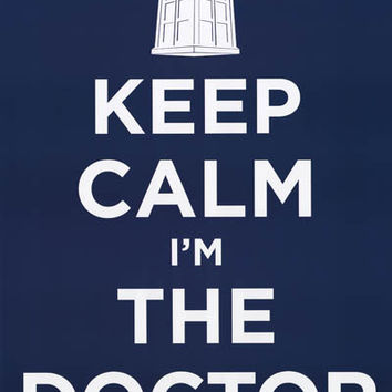 Doctor Who Keep Calm TARDIS Poster 24x36