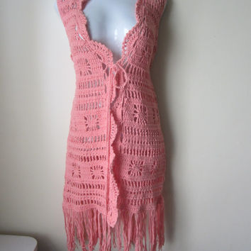 Best Long Crochet Vest Products on Wanelo