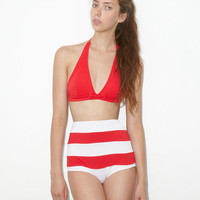Red Halter Top and Red/White Stripe Retro Vintage High Waisted Waist Swimsuit Swimsuits Bikini Swimwear Swim Sailor suit Bathing suits S