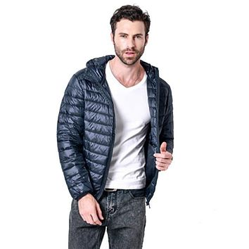 Men's Ultra-Lightweight Down Puffer Jacket