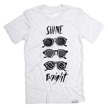 Shine Bright White Fleck T-Shirt