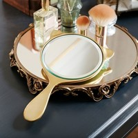 The Emily & Meritt Gold Cat Mirror