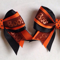 HALLOWEEN (Set of 2)  Pigtail Bows