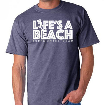 Cotton Tshirts -  Lifes a Beach T Shirt