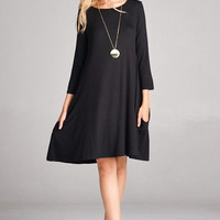 Preorder Back in Black Swing Dress