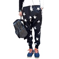 Magiftbox Men's Youth Fashion Stars Loose Dancing Sports Pants K86_Black_35
