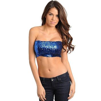 "Sequin Bandeau - 8"" Length"