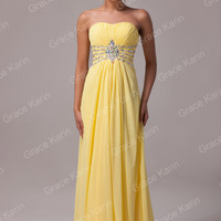 Yellow Off Shoulder  Beads Detailed Maxi Dress