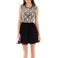 Love Reigns Sleeveless Sequin-Bodice Dress