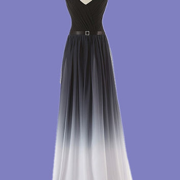 Sleeveless Prom Dress, Black Prom Dresses,Long Evening Dress