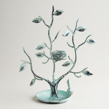 Green Tall Tree and Nest Jewelry Stand - World Market