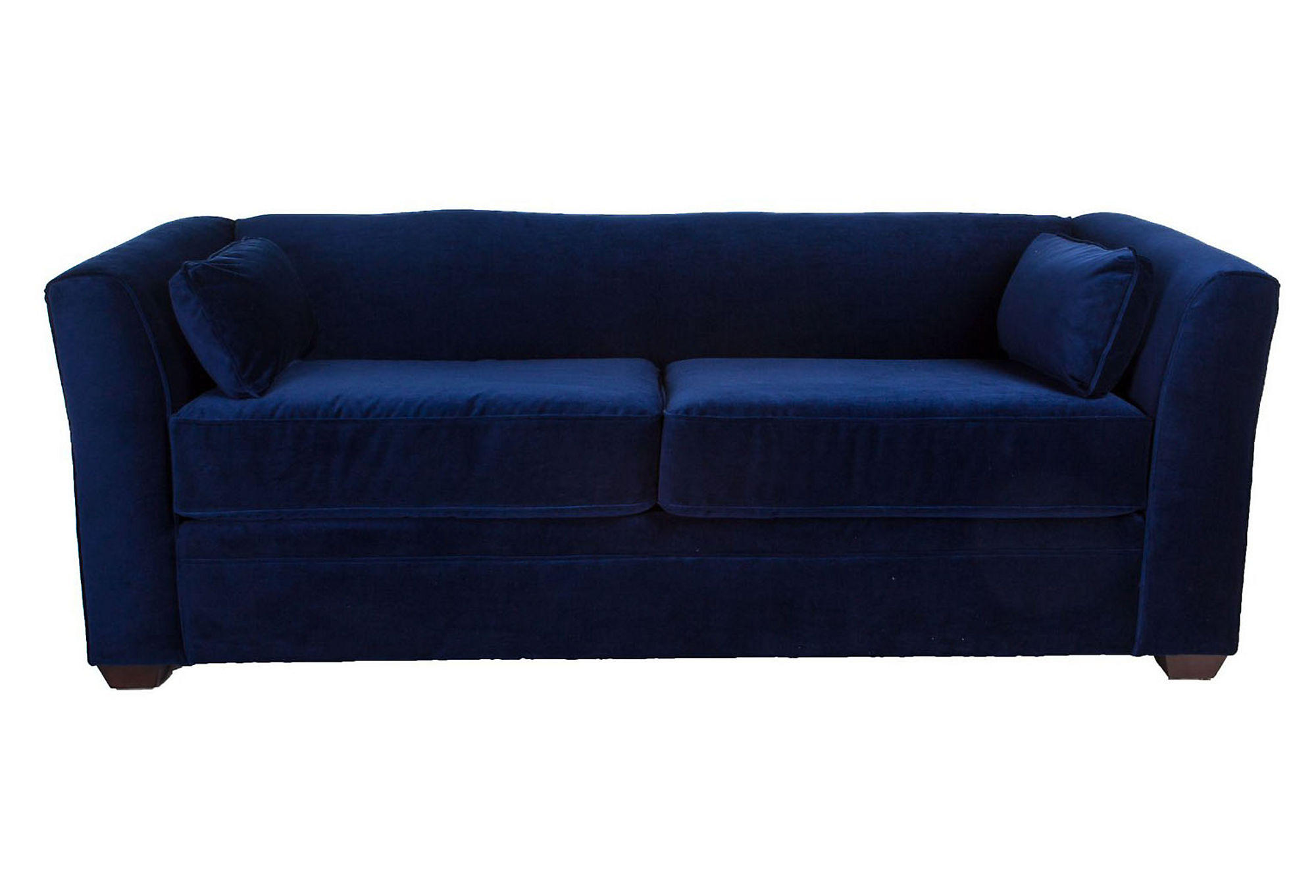 Dita 84quot Tuxedo Sofa Navy Velvet Sofas from One Kings Lane : fullsize from wanelo.com size 2000 x 1362 jpeg 117kB