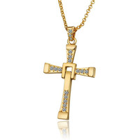 Gold Plated Classic Religious Cross Necklace
