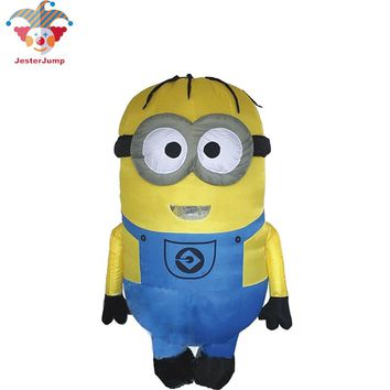 Cosplay Party Inflatable Adult Minion Costume Halloween Despicable Me Minion Costume Mascot 1.5-2m Minion Inflatable Costume
