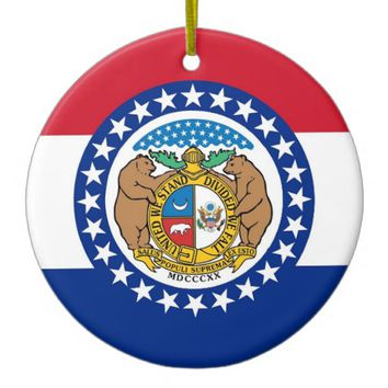 Ornament with flag of Missouri