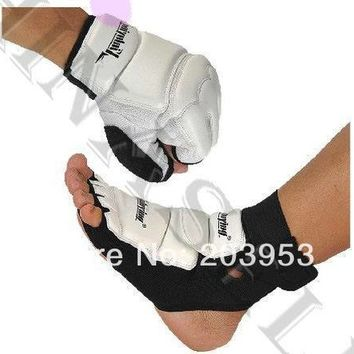 Sandbag Gloves Hand Gauntlets Protector + Ankle Fighting Foot Protective Gear