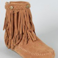 Cherokee-11 Fringe Moccasin Ankle Bootie