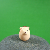 Little Hedgehog - Hand Sculpted Miniature Polymer Clay Animal