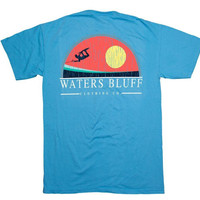 Waters Bluff Big Air Short Sleeve Tee- Sapphire