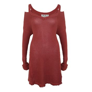 Rusted Knit Tunic Dress