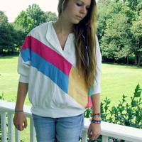 Vintage 90's Light Weight Nylon Color Block Shirt