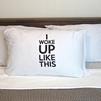 I woke up like dis this, Beyonce flawless bow down pillowcase, decorative sham , pillow case cover