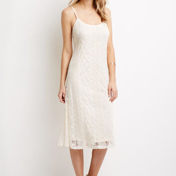 Crochet-Embroidered Midi Dress