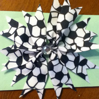 Soccer Hair bow. Super cute, and absolutely adorable.
