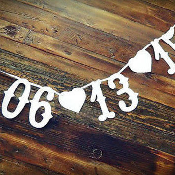 Custom Vintage Rustic Western  Style Save The Date Banner- Photo Prop Sign