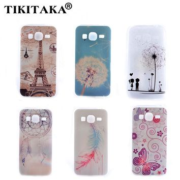 Soft TPU Nice Feather Dandelion Butterfly Tower Pattern Case Cover For Samsung Galaxy Grand Prime G530 G530H G5308W G5308