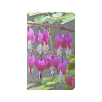 Pink Bleeding Hearts Floral Large Moleskine Notebook
