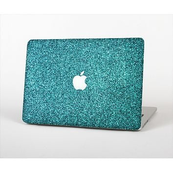 The Teal Glitter Ultra Metallic Skin Set for the Apple MacBook Pro 13""