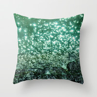 NATURAL SPARKLE Throw Pillow by catspaws