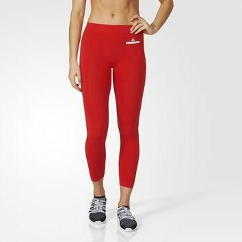 adidas Essentials Seamless Mesh Tights - Red | adidas US