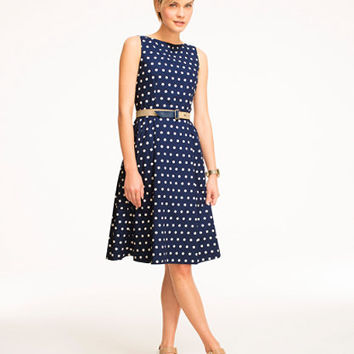 Signature Poplin Dress, Polka Dot: Skirts and Dresses | Free Shipping at L.L.Bean
