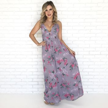 Get to Know Me Maxi Dress in Dusty Purple