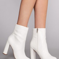 Twiggy Booties - White