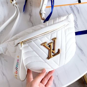 LV NEW WAVE Women's Pocket Shoulder Bag white